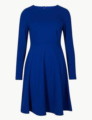 Marks and Spencer PETITE Long Sleeve Fit & Flare Dress