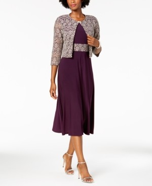 Jessica Howard A-Line Dress and Lace Jacket