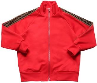 Fendi Logo Print Triacetate Zip-Up Sweatshirt