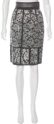Proenza Schouler Brocade Pencil Skirt Grey Brocade Pencil Skirt