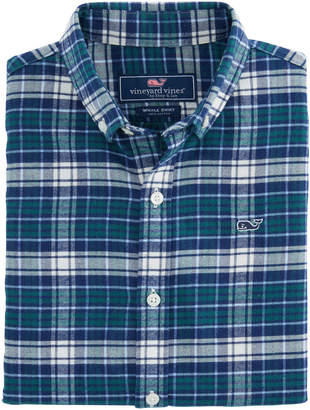 Vineyard Vines Boys Tower Ridge Flannel Whale Shirt