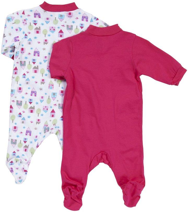 Gerber 2 Pack Sleep N Play Snap Front (Baby) - Pink-NB