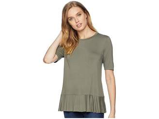 BCBGeneration Back Ruffle Tee Women's T Shirt