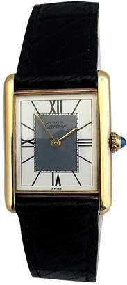 Cartier Tank Must silver gilt watch