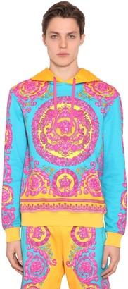 Versace Baroque Print Cotton Sweatshirt Hoodie