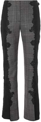 Jonathan Simkhai Lace Applique Plaid Pants