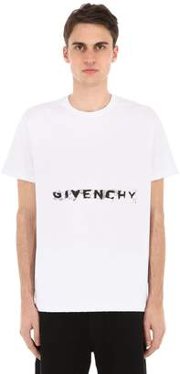 Givenchy Oversized Logo Printed Cotton T-Shirt