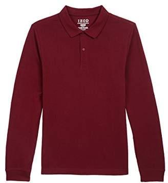 Izod Uniform Young Men's Long-Sleeve Pique Polo