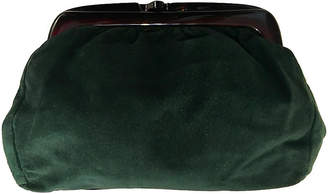 One Kings Lane Vintage Italian Green Leather Clutch - nihil novi