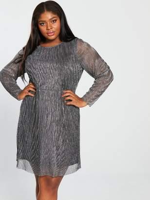 Junarose Curve Miliana Long Sleeve Above Knee Dress - Black