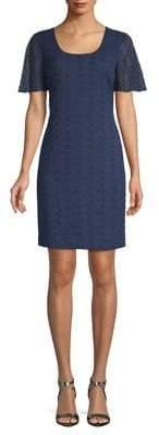 Karl Lagerfeld Paris Printed Short Sleeve Shirt Dress