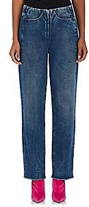 WOMEN'S STRAIGHT JEANS - BLUE SIZE 36 FR