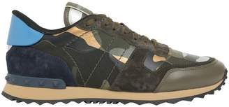 Valentino Rockrunner Camouflage Leather Sneakers