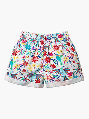Boden Mini Girls' Colourful Floral Woven Shorts, Multi