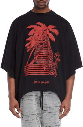 Palm Angels Black & Red Prayer Oversized Tee