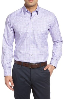 Men's David Donahue Regular Fit Plaid Dress Shirt $135 thestylecure.com