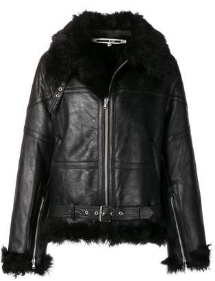 McQ zipped shearling jacket