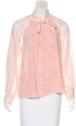 Rebecca Minkoff Floral Print Long Sleeve Blouse w/ Tags
