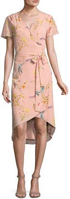 WORTHINGTON Worthington Flutter Sleeve Wrap Dress - Tall