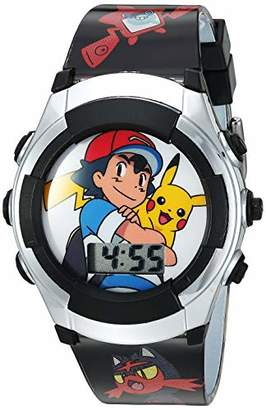 Pokemon Boys' Quartz Watch with Plastic Strap