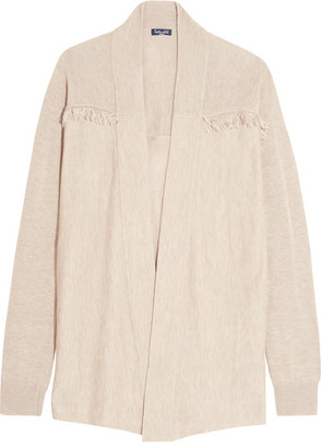 Splendid - Ridge Frayed Knitted Cardigan - Beige $235 thestylecure.com