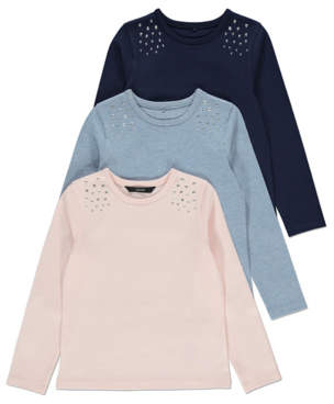 George Studded Long Sleeve Tops 3 Pack