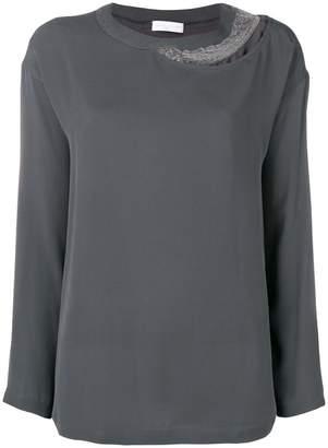 Fabiana Filippi embellished detail blouse