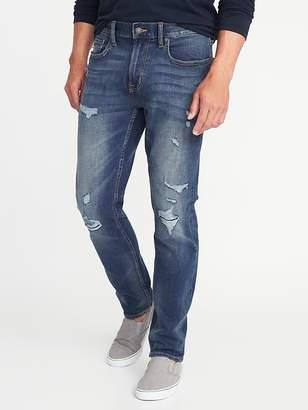 Old Navy Slim Built-In Flex Distressed Jeans for Men