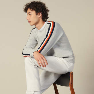 Sandro Sweatshirt With Stripes On The Sleeves