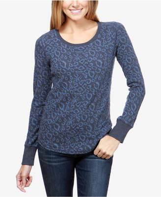 Lucky Brand Cotton Animal-Print Sweatshirt
