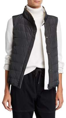 Brunello Cucinelli Taffeta Water-Resistant Puffer Vest