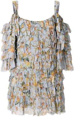 Zimmermann ruffled print dress