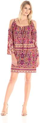 Tiana B T I A N A B. Women's Cold Shoulder Print Dress