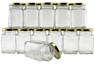 6-Ounce Square Victorian Jars (12-Pack)