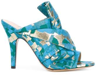 Gianluca Capannolo patterned heeled mules