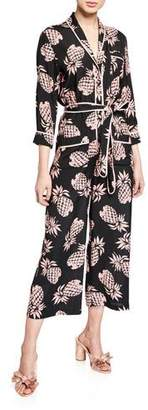 Le Superbe Beatnik Pineapple-Print Cropped Jumpsuit