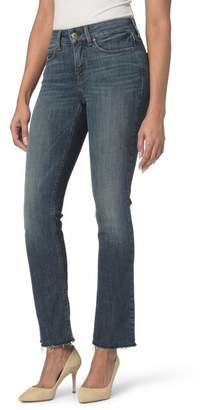 NYDJ Marilyn Raw Hem Stretch Ankle Straight Leg Jeans