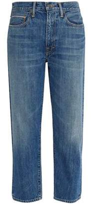 Vince Faded Mid-Rise Straight-Leg Jeans