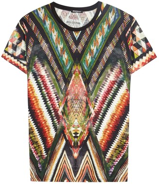 Printed Cotton Blend T-shirt