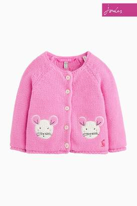 Next Girls Joules Pink Mouse Baby Dorrie Cardigan