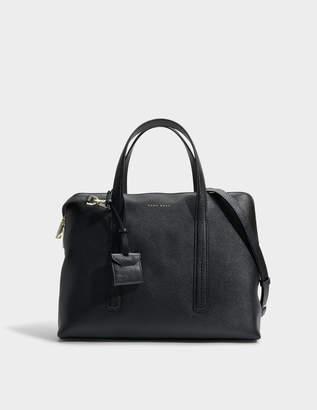 HUGO BOSS Taylor Briefcase in Black Grainy Calfskin