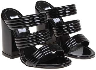 Kenzo Black Leather Sandals