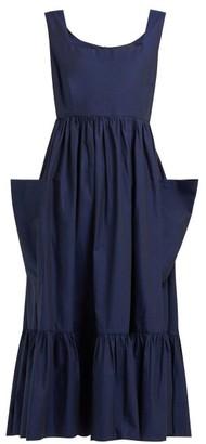 Binetti Love Simple Minds Tiered Cotton Dress - Womens - Blue