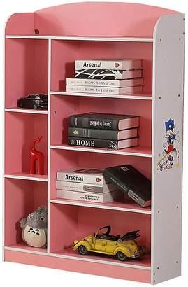 OliandOla Kids Skater 7 Shelf Bookshelf, Pink