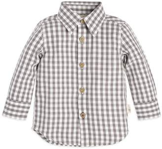 Burt's Bees Gingham Button Front Organic Baby Shirt