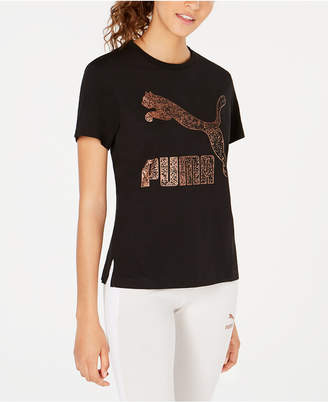 Puma Pum Kiss Arctica Cotton Logo T-Shirt