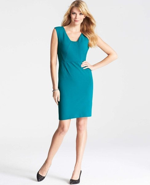 Ann Taylor Tall Seamed Ponte Dress