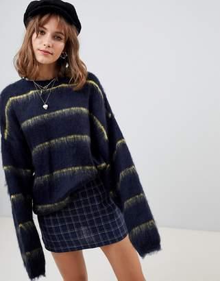 Wild Honey oversized sweater in stripe
