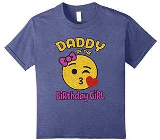 Daddy of the Birthday Girl Emoji Shirt Kiss Heart Tee