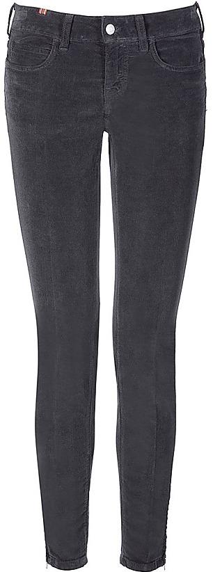 NOTIFY Dark Grey Skinny Zip Pants Bamboo